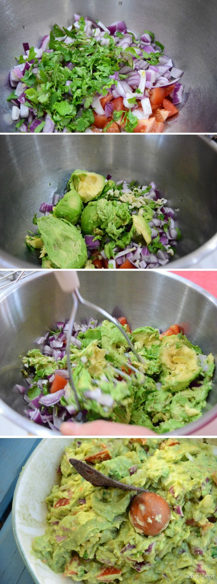 Easy guacamole. To kick it up a little you can add a seeded diced jalapeño or serano pepper. Enjoy!
