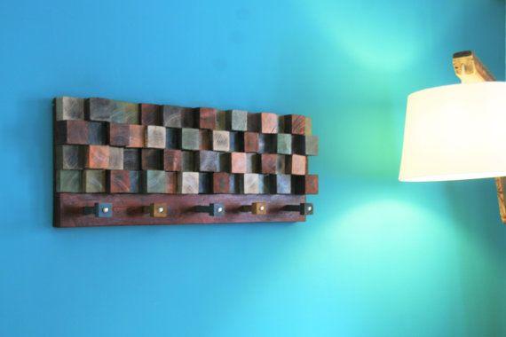 coat rack from reclaimed pine wood. 93cmX35cm