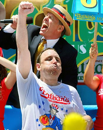 Joey Chestnut Wins Nathan's Hot Dog Eating Contest for Seventh Straight Year, Downs 69 Franks