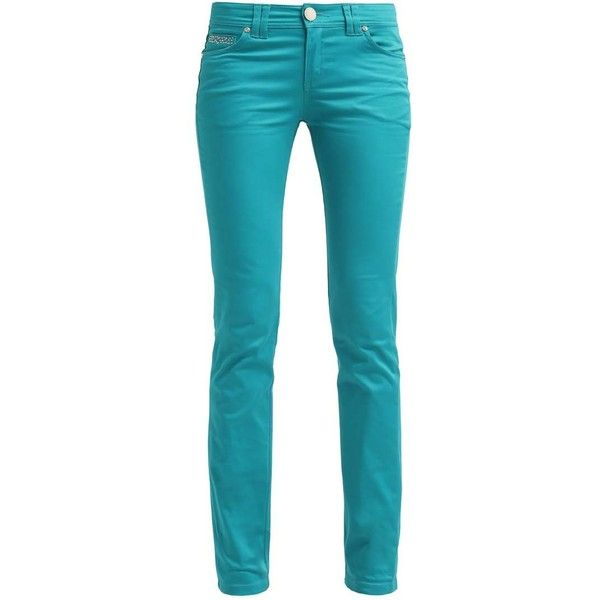 Morgan Straight leg jeans emeraude ❤ liked on Polyvore featuring jeans, blue jeans and straight leg jeans