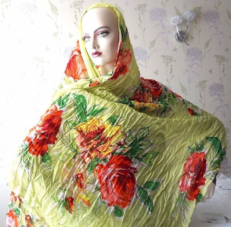 Women's Crinkled Scarf with Floral Pattern fashion weddings party work wear girl