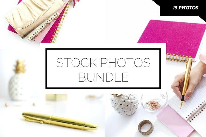 Pink Desktop Photo Bundle (18 pics) by Ivorymix on /creativemarket/