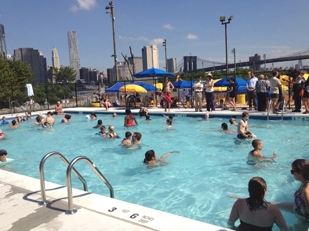 Pool In Brooklyn Bridge Park