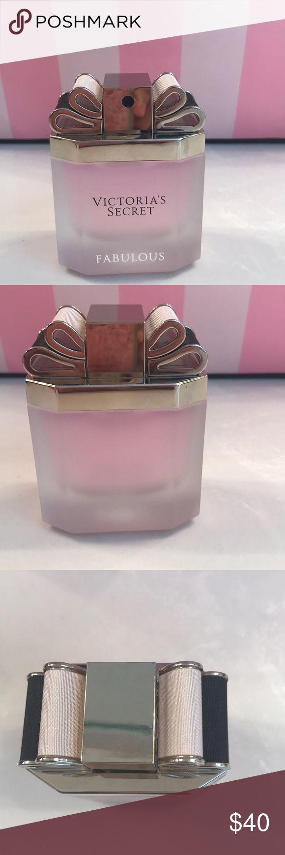 Victoria's Secret Fabulous 1.7oz Perfume EDP Victoria's Secret Fabulous 1.7oz Perfume EDP. This fragrance has been discontinued. Only used for display. Sprayed one time. No box. No trades. Victoria's Secret Other