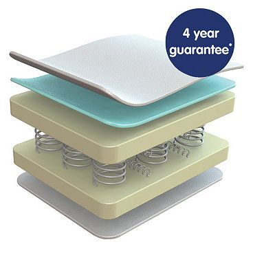 Cosatto Spring Fibre Baby Cot Mattress - 120 x 316 Advantage card points. Cosatto Spring 120 Fibre Baby Mattress is suitable for use from birth. It is super comfortable and safe for your baby and practical to clean for you FREE Delivery on orders  http://www.MightGet.com/april-2017-1/cosatto-spring-fibre-baby-cot-mattress--120-x.asp