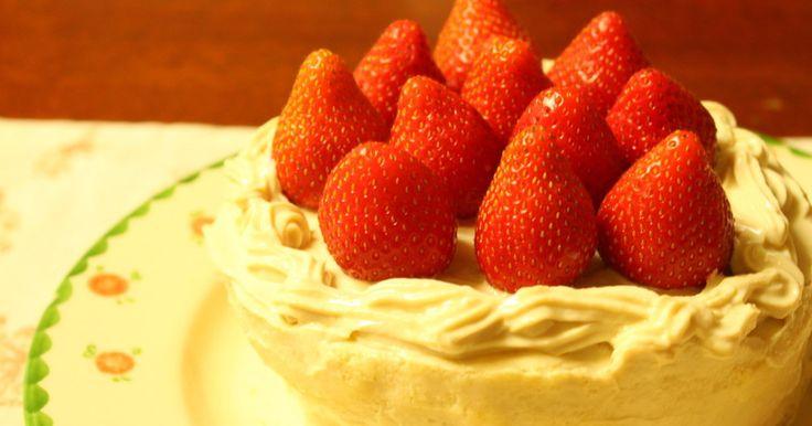 卵、バター、生クリームなしでも出来ちゃう。マクロビオティックいちごのショートケーキ♡