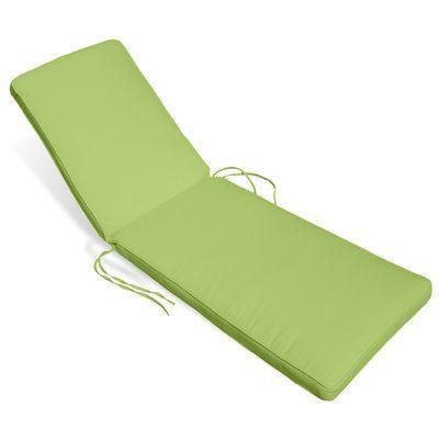 Beachcrest Home Outdoor Sunbrella Chaise Lounge Cushion Fabric: Parrot