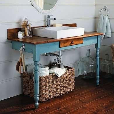The Write Stuff - DIY Bathroom Vanity - 12 Bathroom Rehabs - Bob Vila