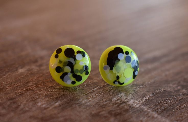 A personal favourite from my Etsy shop https://www.etsy.com/au/listing/519513740/neon-yellow-confetti-pop-earrings