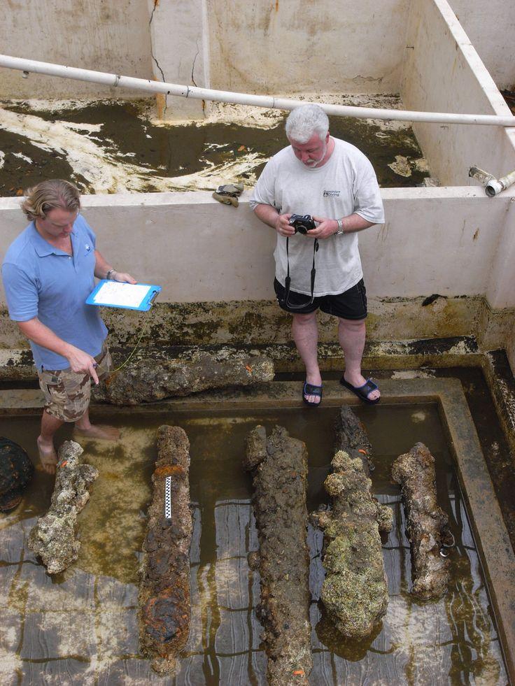 del capitán Morgan Cañones: Centro de Estudios Arqueológicos: Universidad Estatal de Texas