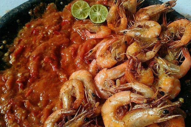 Resep Masakan udang goreng gurih dengan sambel pedas - Resep Masakan