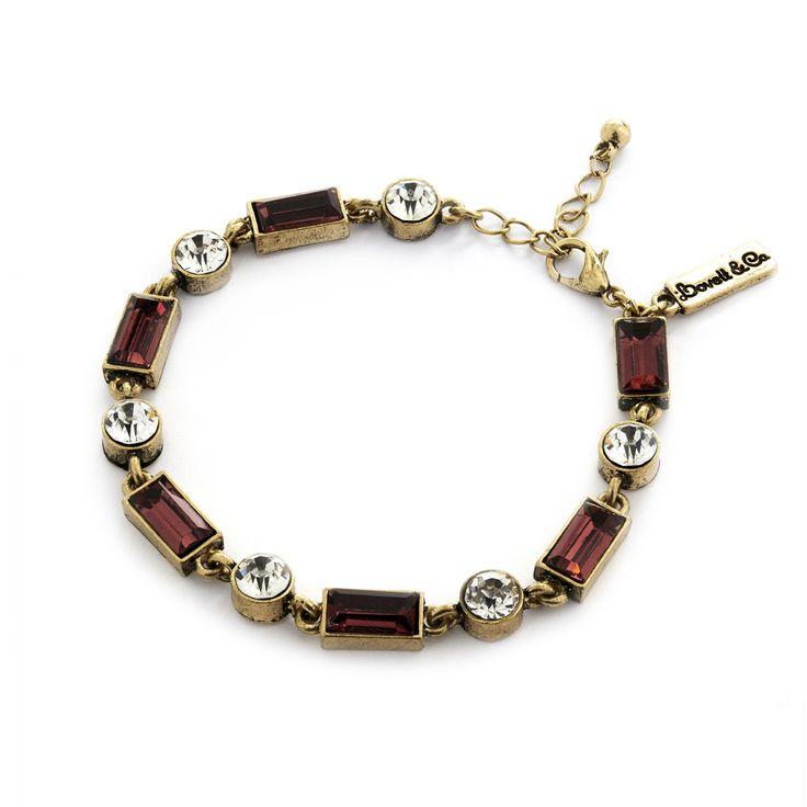 Lovett & Co Burgundy Milk Stone Bracelet RRP £25