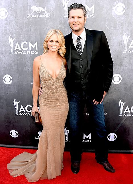 Country music's power couple Miranda Lambert and Blake Shelton the 2014 ACM Awards
