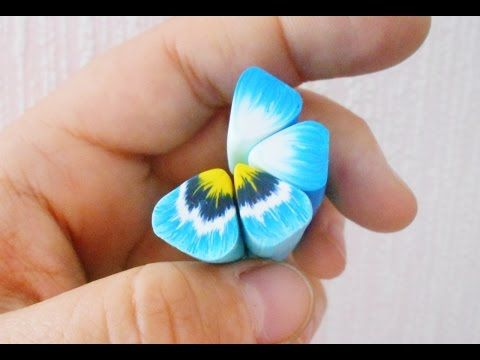 ТРОСТИ для цветка АНЮТИНЫ ГЛАЗКИ из полимерной глины FIMO - YouTube