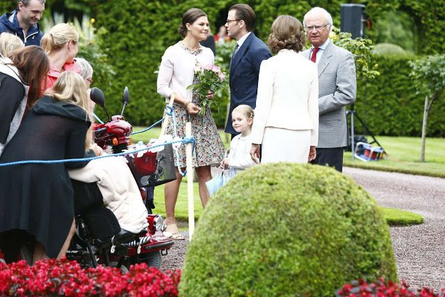 Queens & Princesses - Princess Victoria and members of the royal family, celebrate  her 38th Birthday while on vacation in Solliden on the Island of Oland.