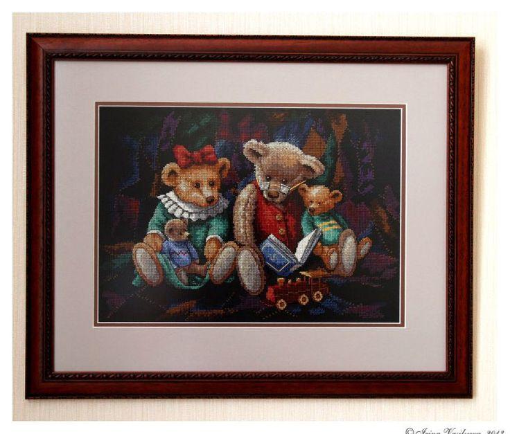 Набор для вышивания Dimensions 35081 Storytime bears Время мишкиных историй