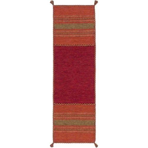 Surya TRZ3002-268 Trenza 3' x 8' Runner Cotton Hand Woven Southwestern Area Rug - Orange
