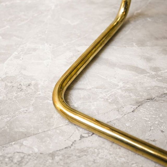 Brass close up on marble