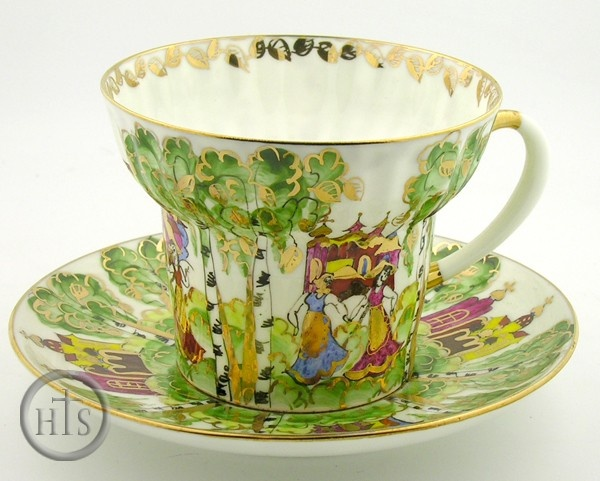 """Birches"" Coffee Cup and Saucer♥"