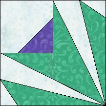 Block of Day for January 09, 2016 - Scottish Thistle foundation piecing-The pattern may be downloaded until: Sunday, January 31, 2016.