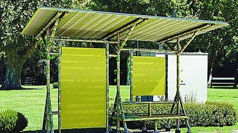 Argentina. Llegan las paradas de colectivos ecológicas de cañas de bambú.