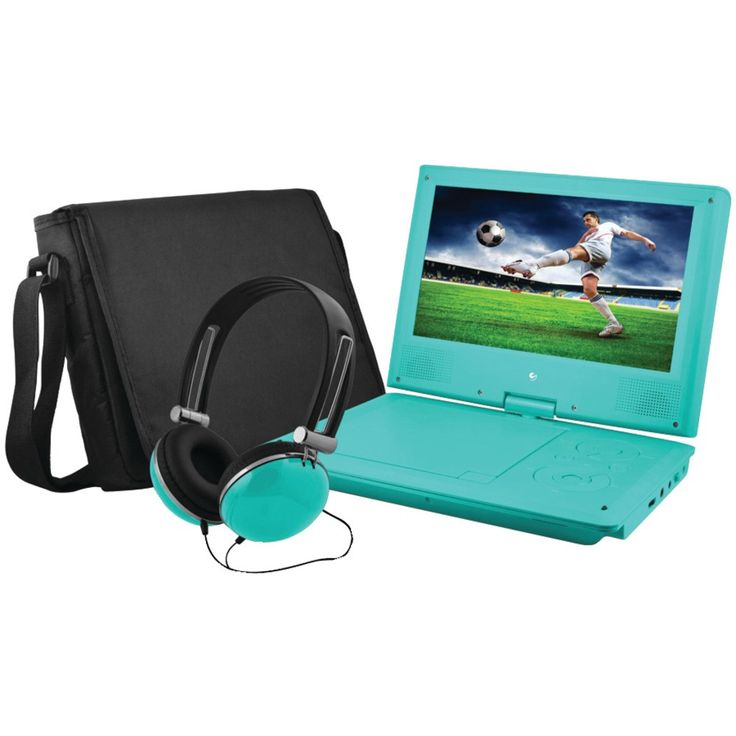 """Ematic 9"""" Portable Dvd Player Bundle (teal)"""