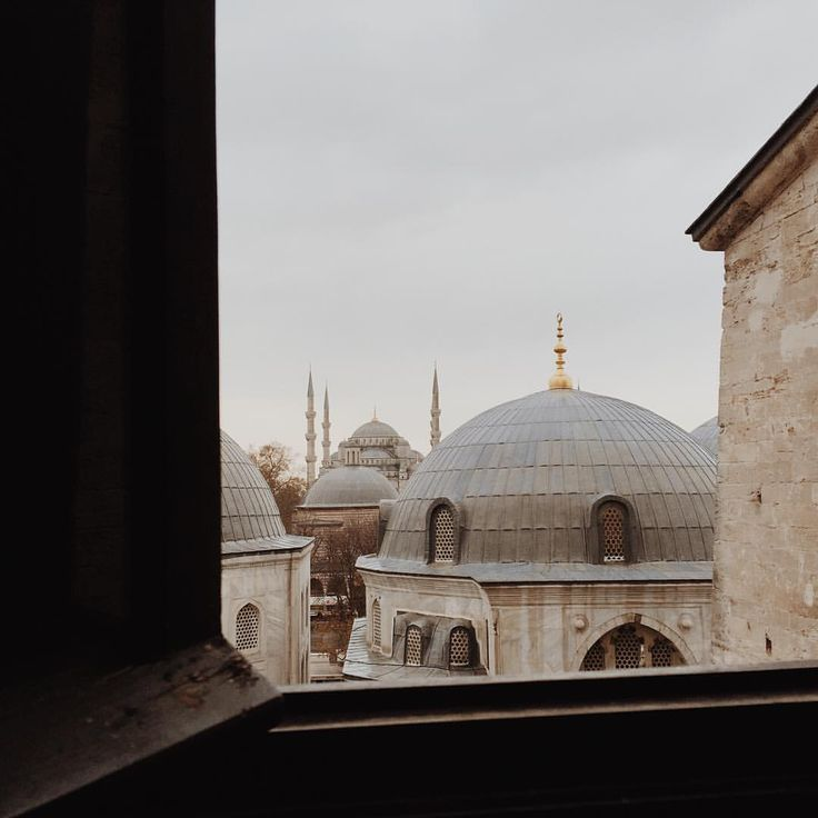 In Hagia Sophia, peering out at the #BlueMosque #Istanbul