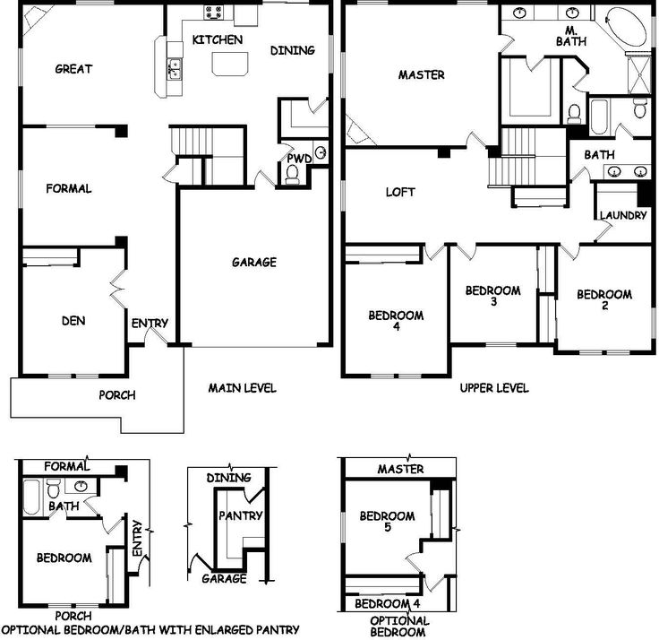 delightful hayden homes floor plans #3: The Waterville by Hayden Homes - Floor Plan - The Watervilleu0027s 3198 square  feet provide a