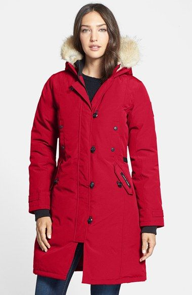 Canada+Goose+'Kensington'+Slim+Fit+Down+Parka+with+Genuine+Coyote+Fur+Trim+available+at+#Nordstrom
