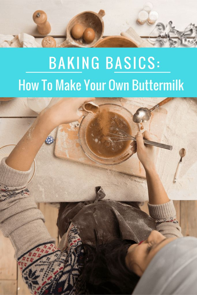 How To Make Your Own Buttermilk- making your own is so easy, can be done in 3 steps with 2 ingredints! Never buy buttermilk again! Get this and 9 more baking substitutions as a FREEBIE!