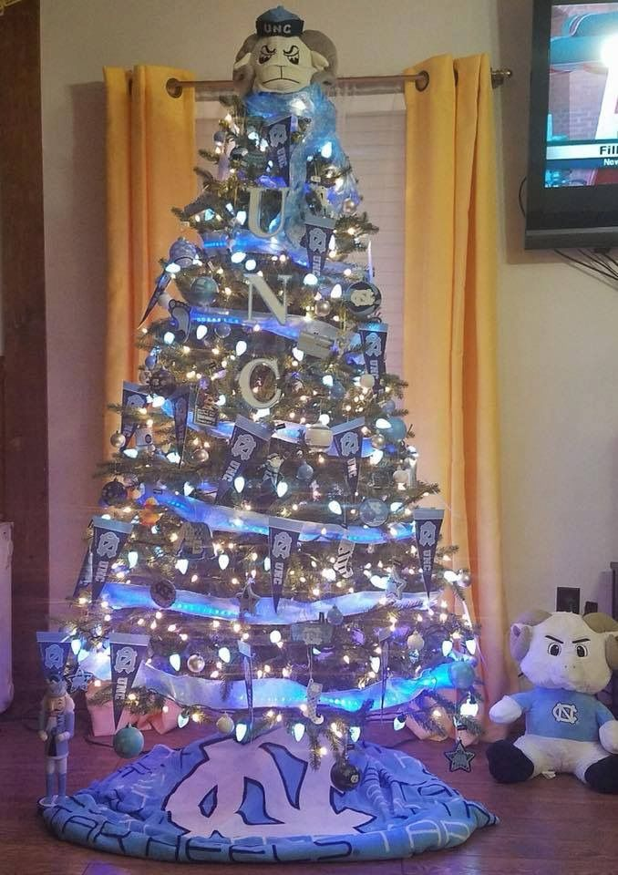 Tarheel christmas tree