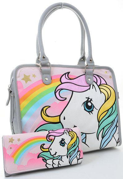 My Little Pony Retro Starshine Print Fashion Tote Bag Purse and Wallet SET  Loungefly  f87752b27f0f9