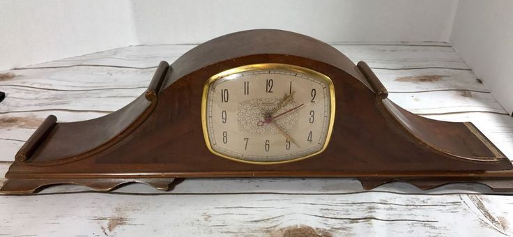 Vintage Sentinel Strike Wood Mantel Electric Clock Model Montclair Model SST-8