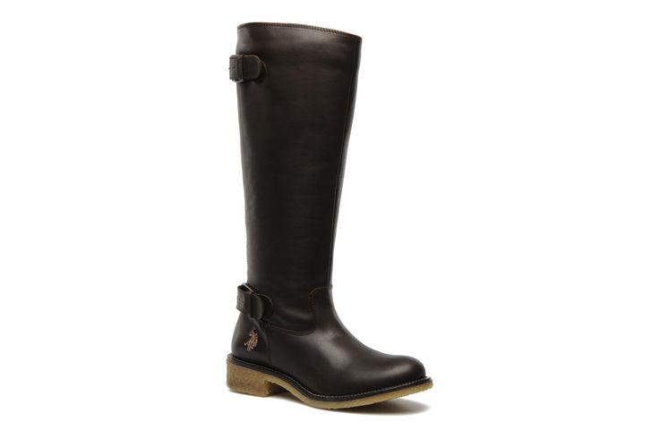 Charlotte leather U.S Polo Assn. (Marron) : livraison gratuite de vos Bottes Charlotte leather U.S Polo Assn. chez Sarenza