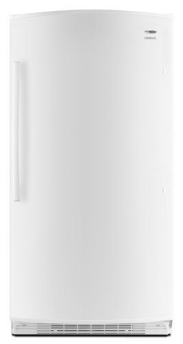 Amana 20.1 cu. ft. Upright Freezer, AQU2003TRW, White by Amana. $624.60. From the Manufacturer                This 20.1 cu. ft. upright freezer's interior light makes finding food a breeze. The Fast Freeze setting quickly freezes large amounts of food. Rounded edges and corners and hidden hinges create a contemporary, seamless look.                                    Product Description                The 20.3 cubic foot Amana AQU2003TRW Upright Freezer quickly freez...