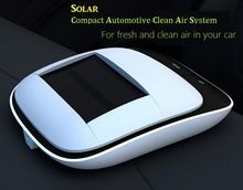 2015 New Fashion Car Air Purifier Solar Anion Oxygen Bar inside Absorb formaldehyde removing tobacco smoke, dust Anti PM 2.5(China (Mainland))