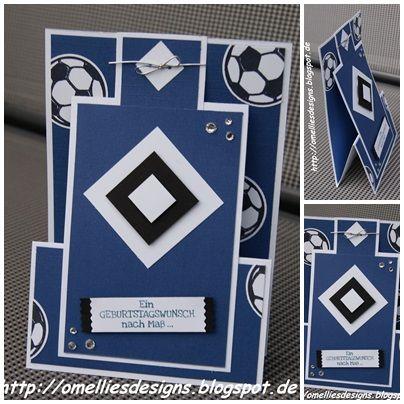 Standkarte , Standing Z-fold Card , Stampin UP , HSV , Hamburger Sportverein, Fussball , Football , Soccer , Geburtstag , Männer , Karte