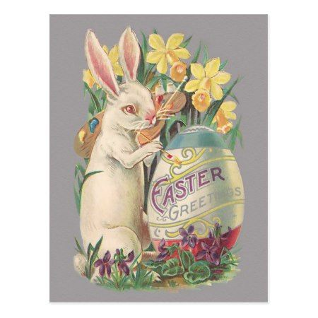 Vintage Easter Bunny Postcard - click to get yours right now!