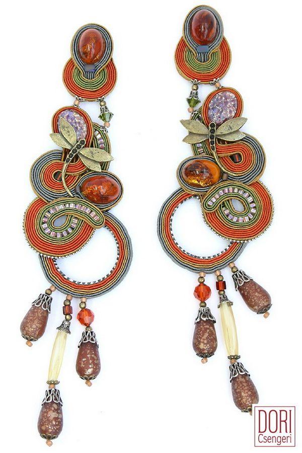 Soutache earrings : Tess
