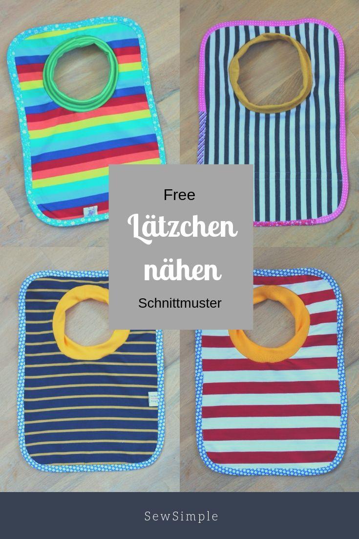 Gratis: Lätzchen selber nähen   – Freebooks nähen