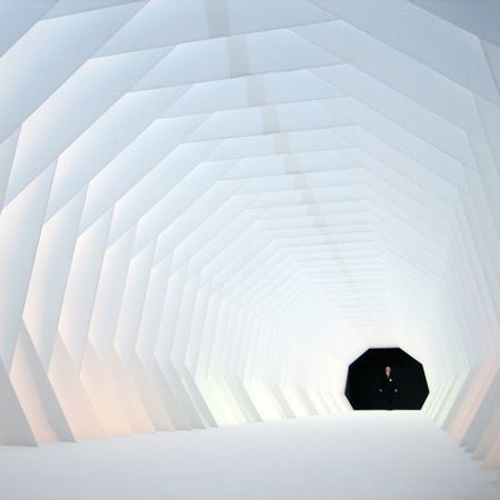 Stockholm Design Week: Xile, a flexible tunnel designed by Swedish designer Mats Karlsson, is one of three winners of the Forum AID Award 2008,