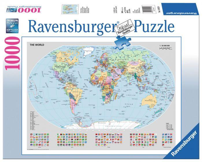 Ravensburger Puzzle 1000pc - Political World Map