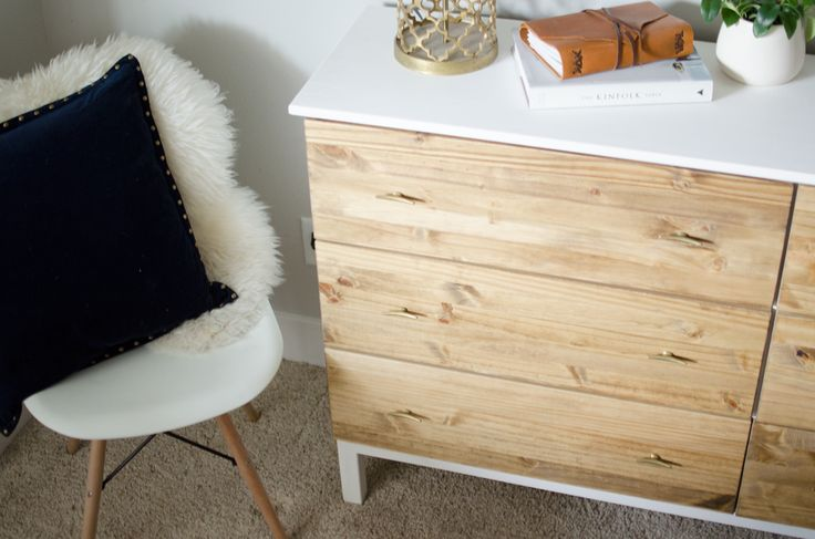 IKEA Bedroom Dresser | The Group Inc I love me a good IKEA hack, and this one doesn't involve any modifications to the actual woodwork (which is good for those of us without tools or the skills!) I particularly love the gold handles from...