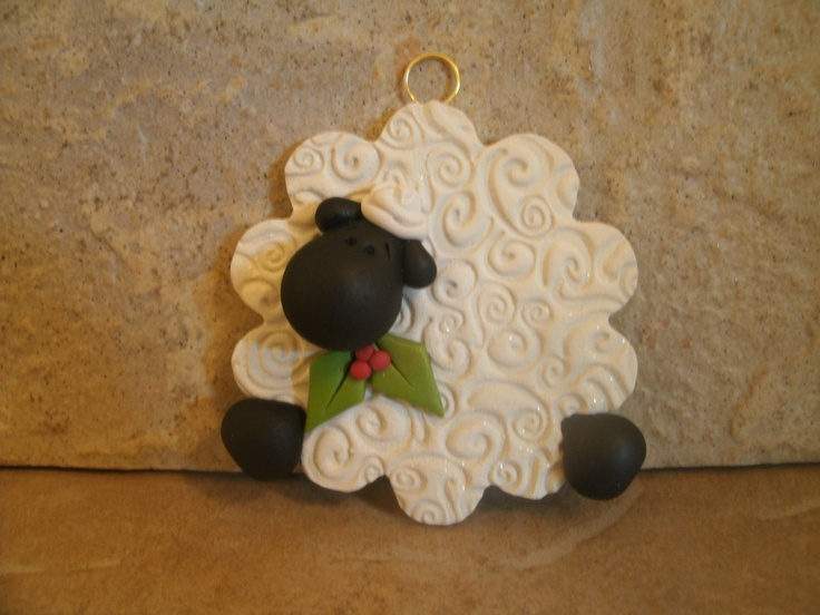 27 best corderitos images on pinterest lamb sheep and for Sheep christmas ornament craft