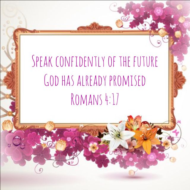 Be confident of the future