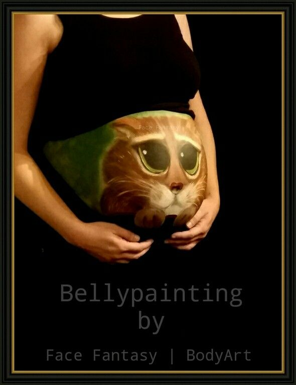 Bellypainting Puss in Boots