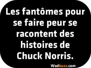 Les fantômes pour se faire peur se racontent des histoires de Chuck Norris.