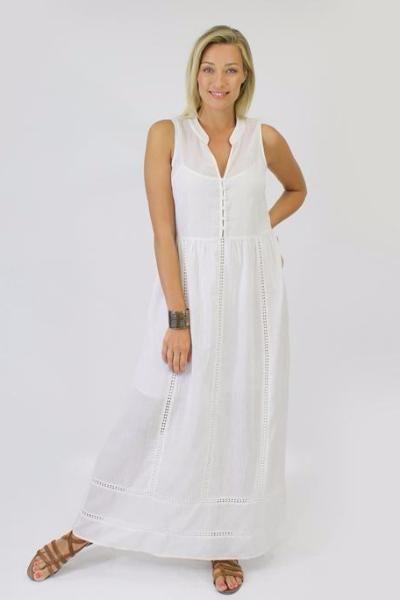 Jendi - 12-415 Maxi Dress- Vanilla