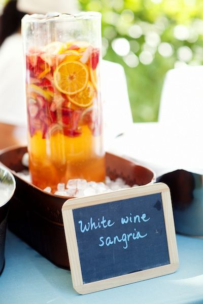 White wine sangria- would be perfect for a summer afternoon this august