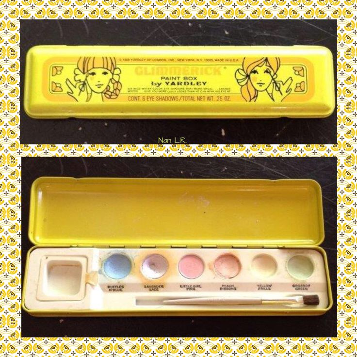 1969 Yardley Glimmerick Paint Box with original brush. Sold for $34.33 in 2017.